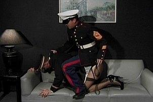 Awesomeinterracial.com- Submissive Troop Oral Fucked By Officer