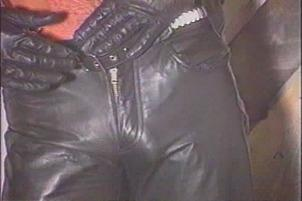 Awesomeinterracial.com- Leather Bound Bear Smokes Cigar While He Plays With His Cock
