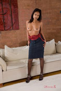Bentbox.co- Misha - Indian Glamour Topless in Stockings & heels HiRes