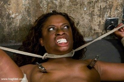 Kink.com - Hogtied welcome sexy MILF Monique for her first hardcore bondage experience.