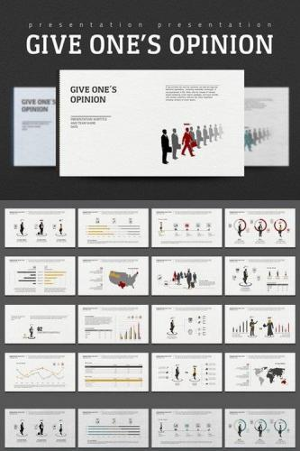 Give One's Opinion PowerPoint Templates