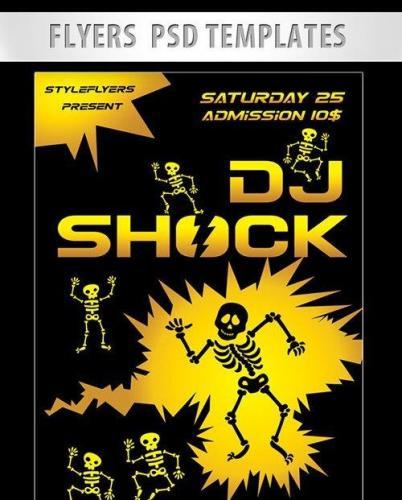 Dj Shock Flyer PSD Template
