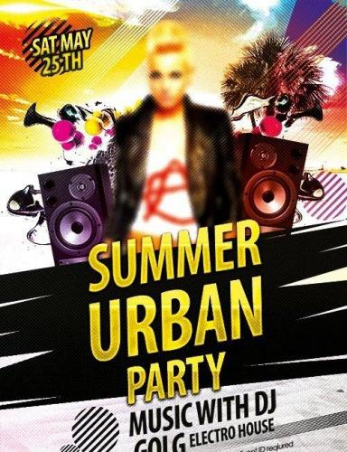 Urban Summer Party Flyer PSD Template