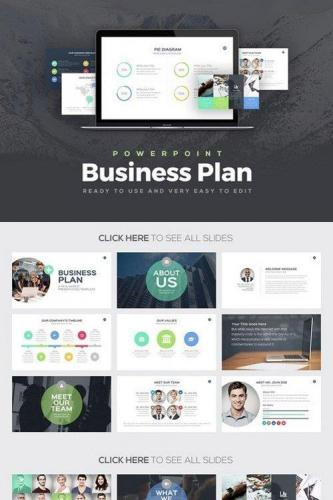 Business Plan Powerpoint Template 546655