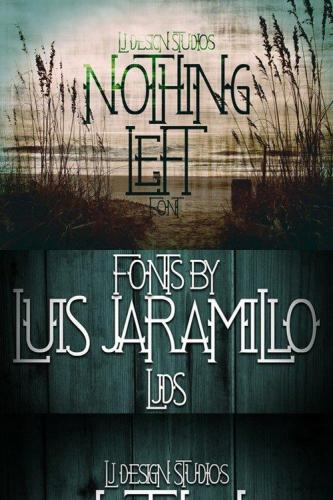Nothing Left font