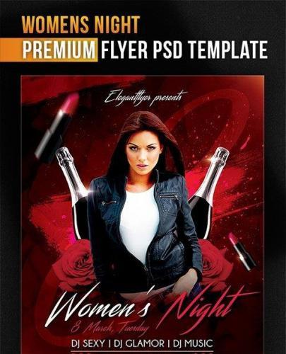 Womens Night Flyer PSD Template