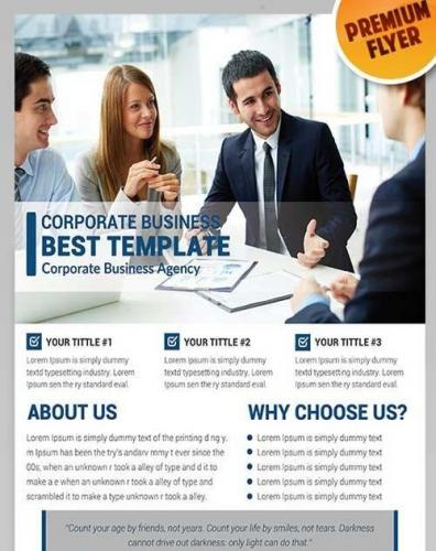 Corporate Business Flyer PSD Template