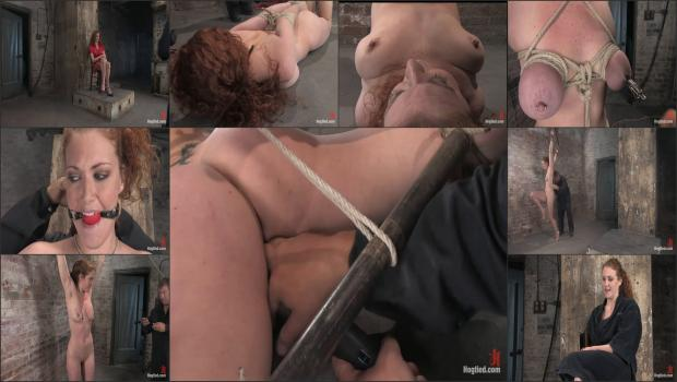 Kink.com - Welcome Sabrina Fox, for her first Hogtied experience. We love natural red heads.