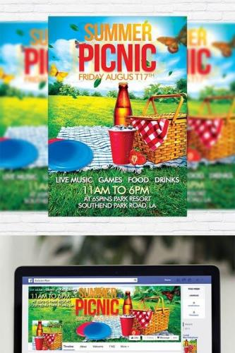 Summer Picnic - Flyer Template