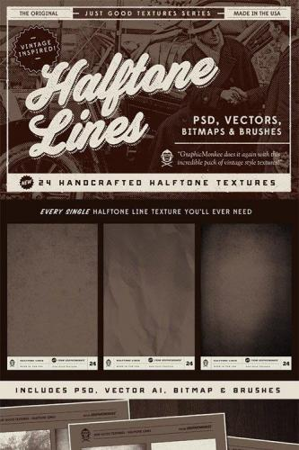 Just Good Textures - Halftone Lines