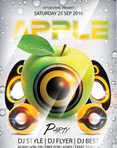 Apple Party Flyer PSD Template