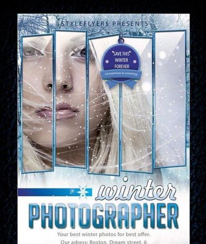 Winter Photographer Flyer Template