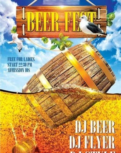 Beer Fest Flyer PSD Template