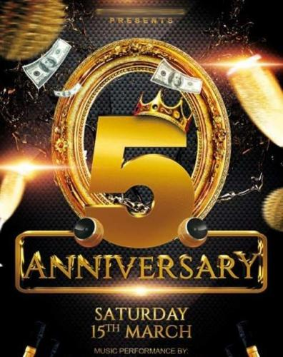 Anniversary Party V3 PSD Flyer Template