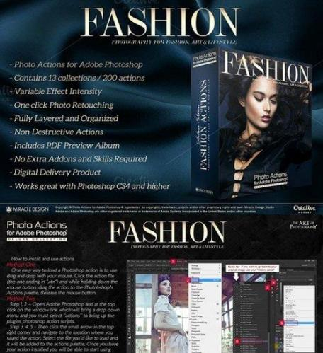 Actions for Photoshop - Fashion