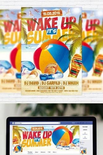 Wake up its Summer - Flyer Template