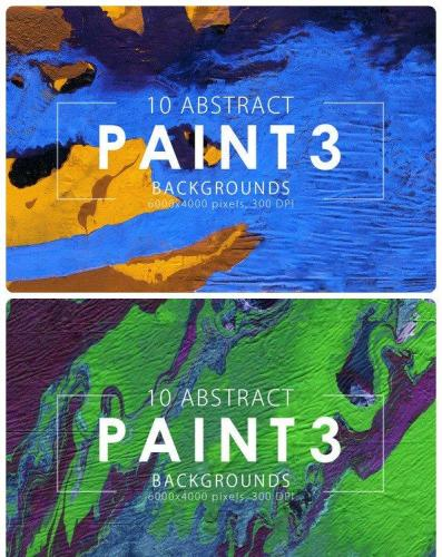 Abstract Paint Backgrounds Vol3