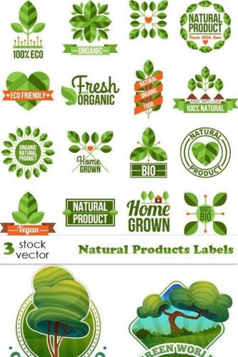 Vectors - Natural Products Labels