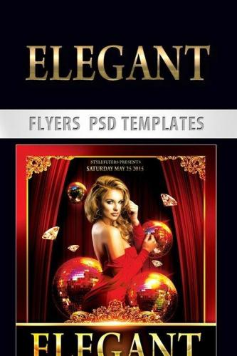 Elegant Flyer PSD Template + Facebook Cover