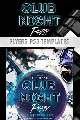 Club Night Party Flyer PSD Template