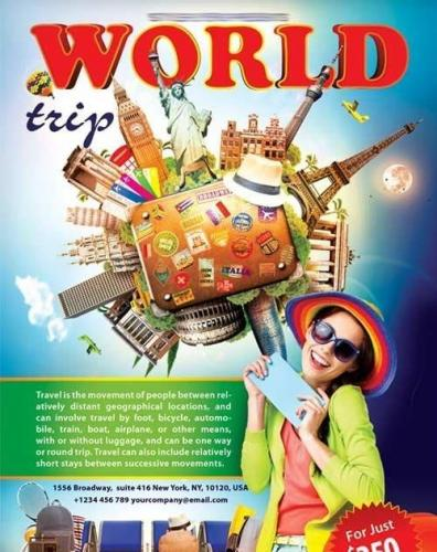 World Trip Flyer PSD Template