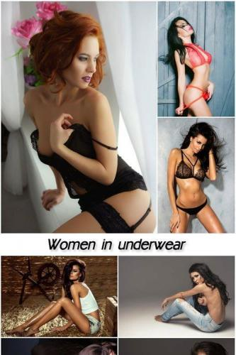 Women, girls in underwear