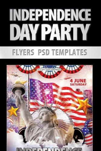 Independence Day Party Flyer PSD Template