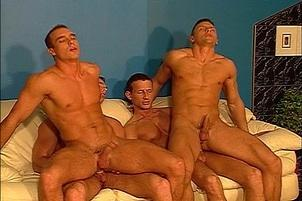 Awesomeinterracial.com- Four Guys Get In On In Major Fuck Fest