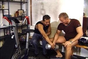 Awesomeinterracial.com- Athletic Guys Fucking in the Gym