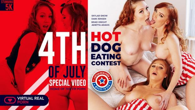 Vrporn.com- Hot Dog Eating Contest-Wild Foursome