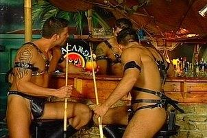 Awesomeinterracial.com- Three Hardcore Party Gays Have Club Orgy