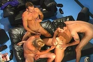 Awesomeinterracial.com- Four Gorgeous Gay Guys in Group Sex