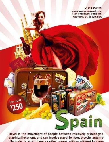 Spain Flyer PSD Template
