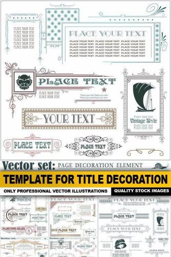 Template For Title Decoration - 25 Vector