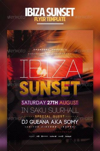 Ibiza Sunset Flyer Template