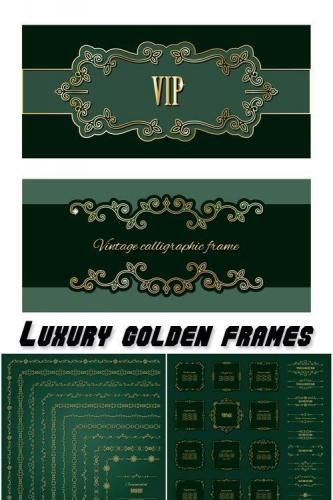 Luxury golden frames