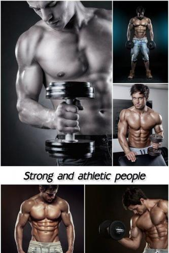 Athletic men, strong and athletic people
