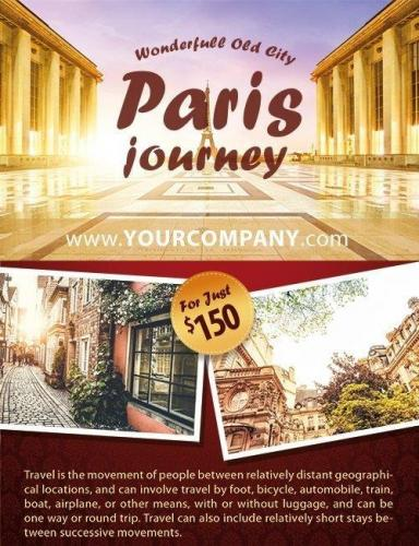 Paris journey Flyer PSD Template