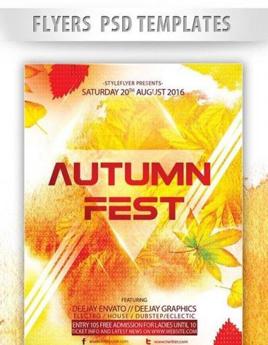 Autumn Fest Flyer PSD Template