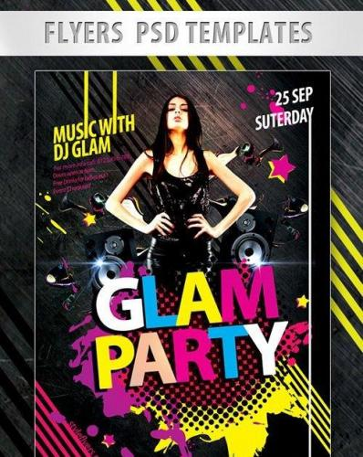 Glam Party Flyer PSD Template