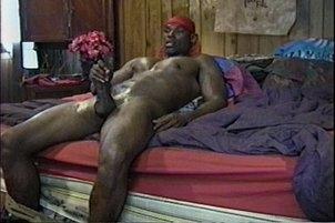 Awesomeinterracial.com- Big Dick Black Hunk Stroking Dick