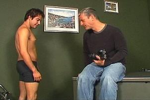 Awesomeinterracial.com- Young Twink Spit Roasted By Older Guys