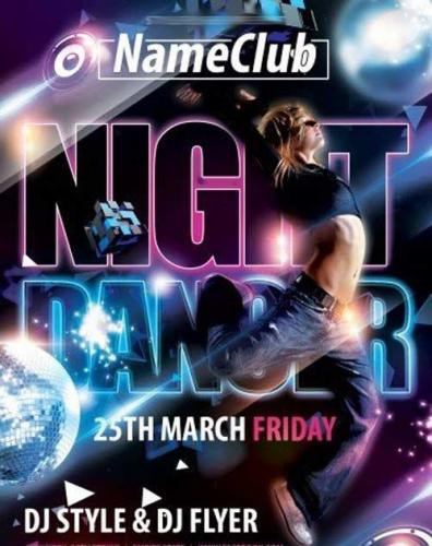 Night Dancer V1 Flyer PSD Template