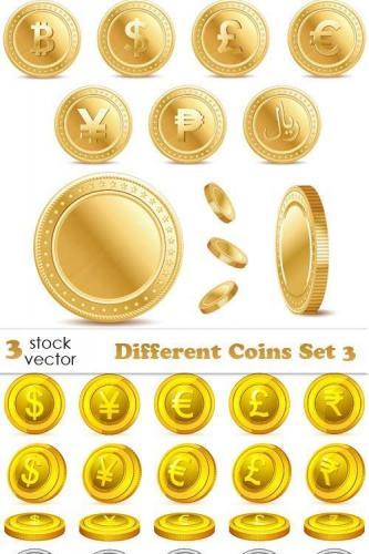 Vectors - Different Coins Set 3