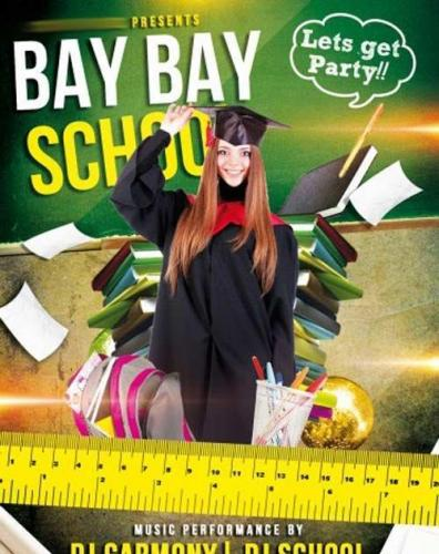 Bay bay School Party Flyer PSD Template