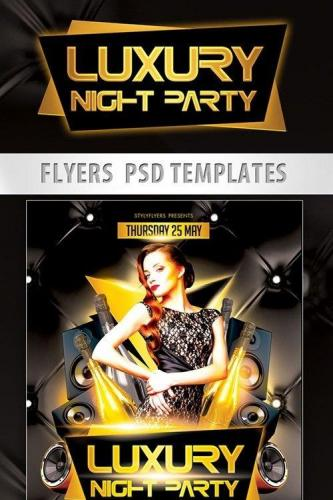 Luxury Night Party Flyer PSD Template