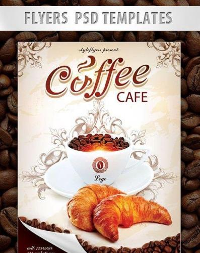 Coffe Cafe Flyer PSD Template