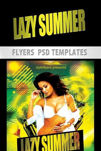 Lazy Summer Party PSD Template