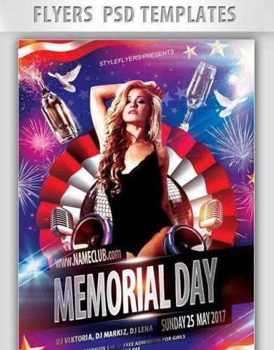 Memorial day Flyer PSD Template