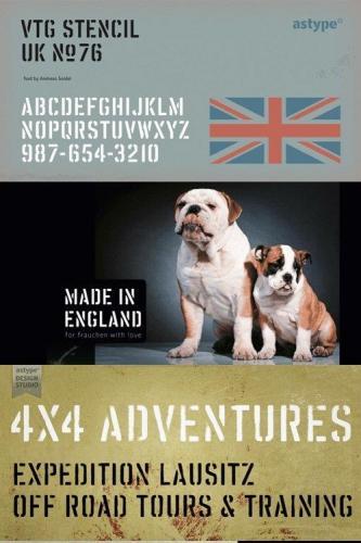Vtg Stencil UK No76 Font Family